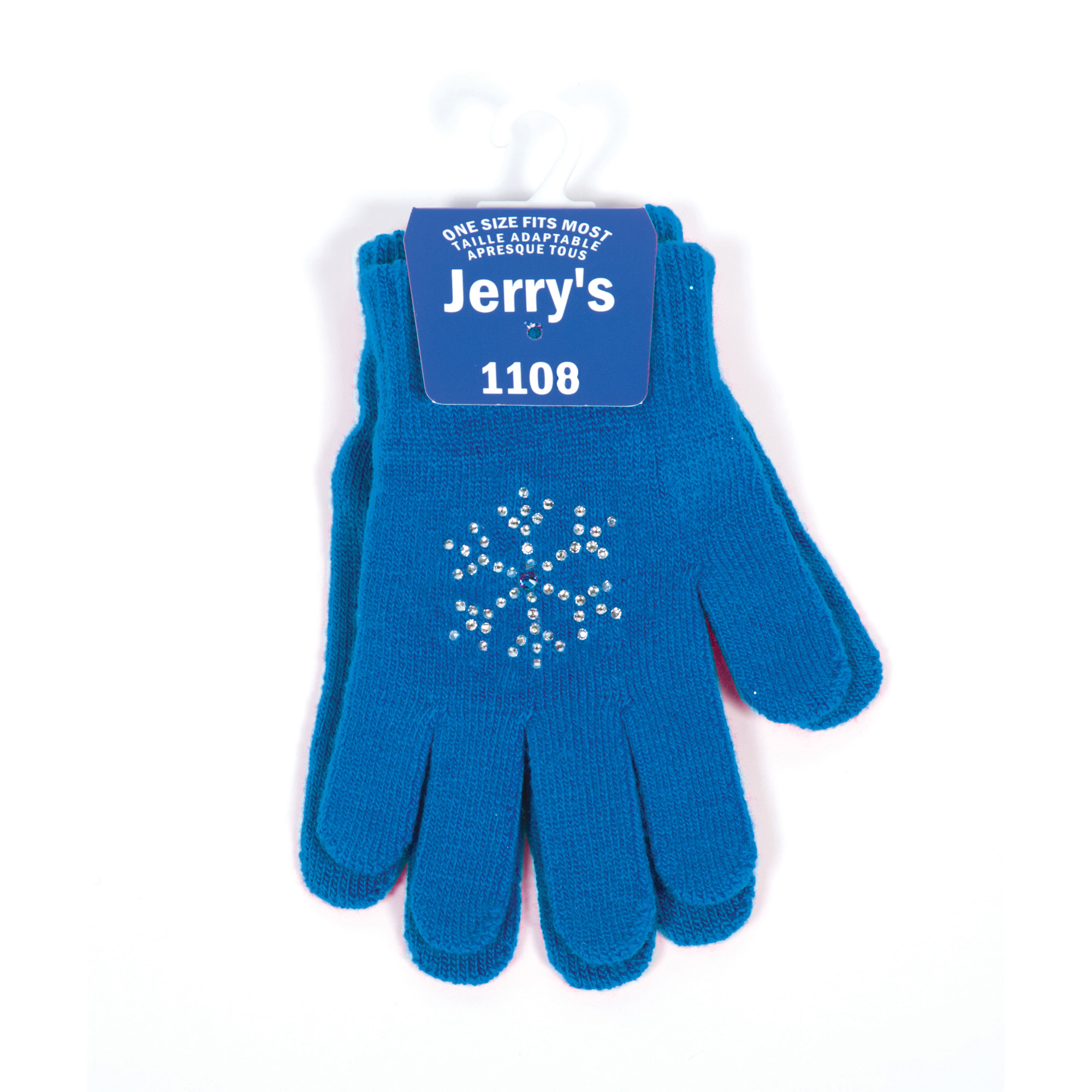 1108 Snowflake Crystal Mini Gloves - Royal Blue - Jerry's Skating World