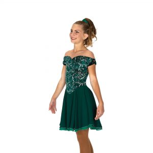 emerald green skating dress