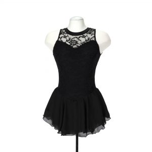 black skating dress