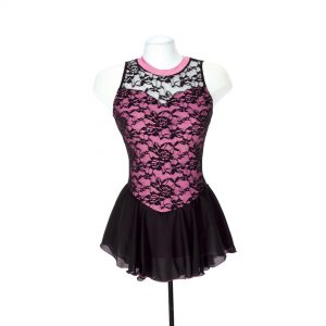a lace figure skating dress