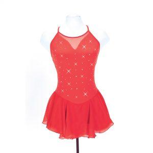 red skating dress