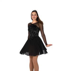 black figure skating dance dress