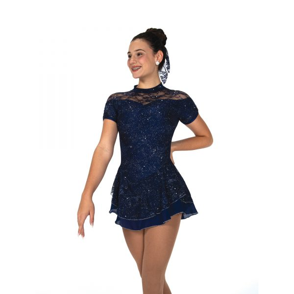 indigo blue lace dress