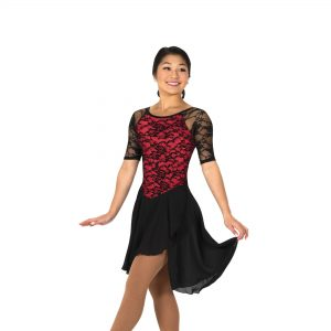 Classic lace dance dress for figure skating