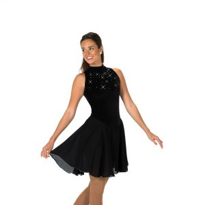 black figure skaters dance dress