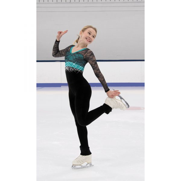 A figure Skating 1-Piece Bodysuit by Jerry's Skating World
