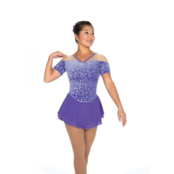 Purple Glitter Velvet Dress