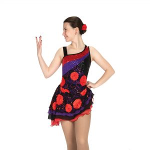Sequins and slants, rosettes, ruffles, straps and skirts