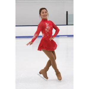 Red Flamestone Dress