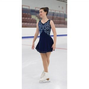 Navy Blue figure skating dress