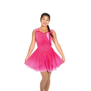 pink figure skating dress