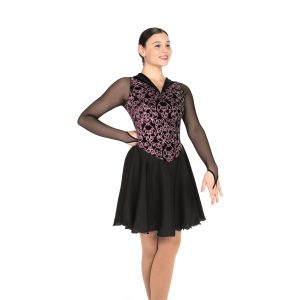 a black figure skating dress