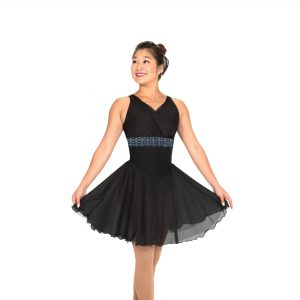 a black dance dress for figure skaters