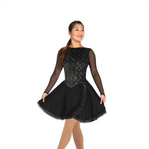 a black figure skating dance dress