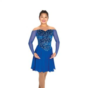 a royal blue figure skating dance dress